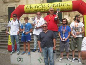 Il podio della 2^ edizione della Historic Maremonti
