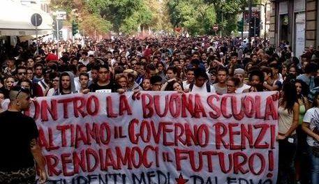 corteo studenti a Palermo