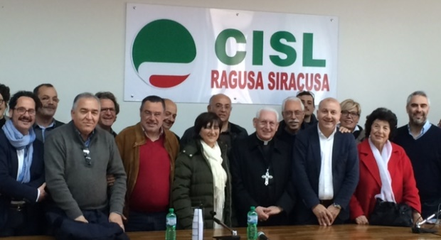 arcivescovo pappalardo visita cisl siracusa times
