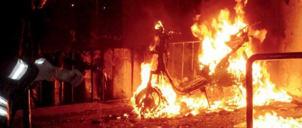 incendio motorino - siracusatimes