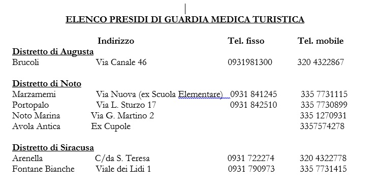 info guardia mediaca - siracusatimes