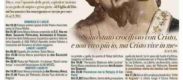 manifesto_festeggiamenti_di_san_paolo_solarino - SIRACUSATIMES