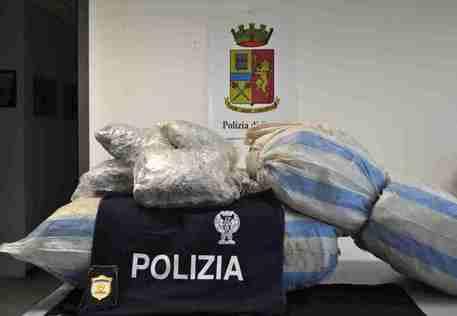 Droga: 40 chilogrammi di marijuana sequestrati dalla polizia nel Ragusano