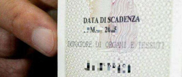 Carta d'identità donazione organi siracusa times