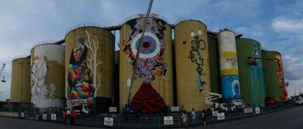 Catania street art silos siracusa times