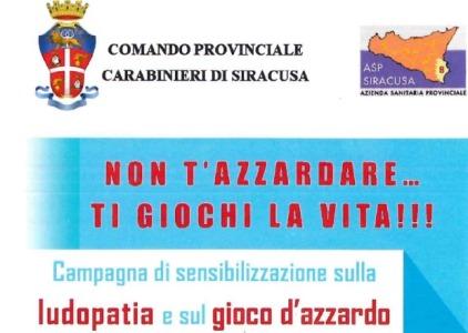 carabinieri asp sensibilizzazione gioco d'azzardo siracusa times