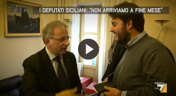 Il nuovo servizio de la gabbia di la7 che fa infuriare for Deputati siciliani
