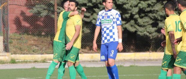 Luca Strano dopo il gol del provvisorio 1 a 1 del Palazzolo