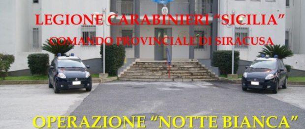 notte bianca operazione carabinieri - siracusatimes