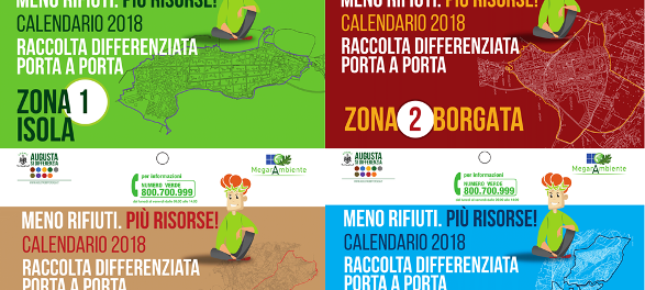 Augusta. Raccolta differenziata, i nuovi Calendari 2018